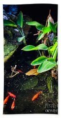 Beach Sheet featuring the photograph Goldfish In Pond by Silvia Ganora