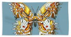 Goldfly Butterfly Beach Towel