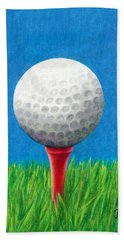 Golf Ball And Tee Beach Towel by Janice Dunbar
