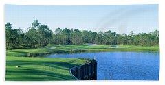 Golf Course At The Lakeside, Regatta Beach Towel