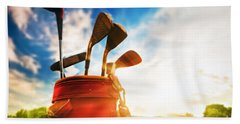 Golf Equipment  Beach Towel by Michal Bednarek