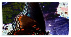Gona-fly-butterfly Beach Towel by Kim Pate