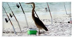 Gone Fishing Beach Sheet by Debra Forand