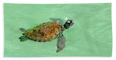 Beach Sheet featuring the photograph Good Day For A Swim  by Susan  McMenamin