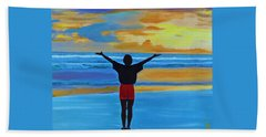 Beach Towel featuring the painting Good Morning Morning by Deborah Boyd