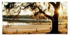 Good Morning Mossy Oak Beach Towel