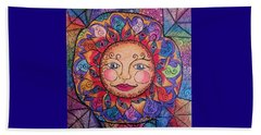 Beach Towel featuring the drawing Good Morning Sunshine by Megan Walsh