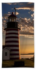 Good Morning West Quoddy Head Lighthouse Beach Towel