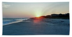 Beach Towel featuring the photograph Good Night Day by Roberta Byram
