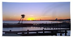 Beach Towel featuring the photograph Goodbye Sun by Roberta Byram