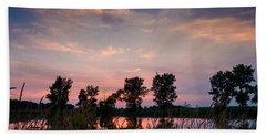 Goose Lake Prairie Sunset Beach Towel