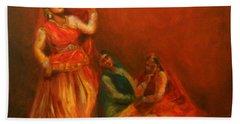 Gopis Distressed As Krishna Is Not Seen Beach Towel