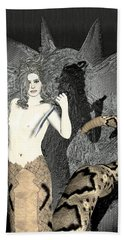 Male Medusa  Beach Towel