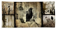 Gothic And Crows Beach Towel
