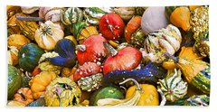 Gourds And Pumpkins At The Farmers Market Beach Towel