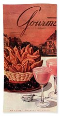Gourmet Cover Featuring A Basket Of Potato Curls Beach Towel