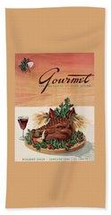 Gourmet Cover Featuring A Boar's Head Beach Towel