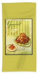 Gourmet Cover Featuring A Plate Of Beignets Beach Towel