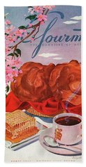 Gourmet Cover Illustration Of A Basket Of Popovers Beach Towel