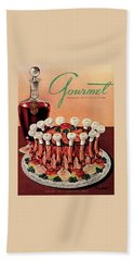 Gourmet Cover Illustration Of A Crown Roast Beach Towel