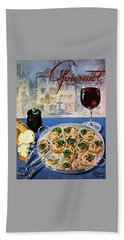 Gourmet Cover Illustration Of A Platter Beach Towel by Henry Stahlhut