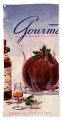 Gourmet Cover Illustration Of Flaming Chocolate Beach Towel