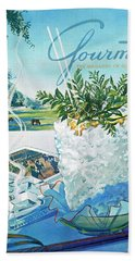 Gourmet Cover Illustration Of Mint Julep Packed Beach Towel