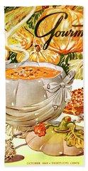 Gourmet Cover Of Pumpkin Soup Beach Towel
