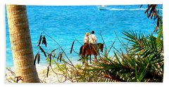 Beach Towel featuring the photograph Grace Bay Riding by Patti Whitten