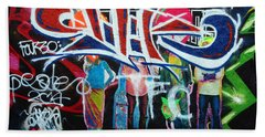 Graffiti Art Beach Towel