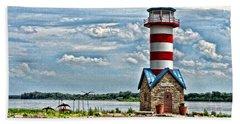 Beach Towel featuring the photograph Grafton Lighthouse by John Freidenberg
