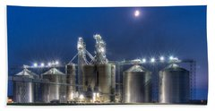 Grain Processing Plant Beach Towel