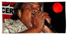 Beach Towel featuring the photograph Grammy Award Winner James Cotton by Mike Martin