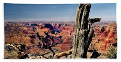 Grand Canyon And Old Tree Beach Towel