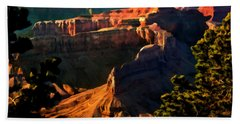 Grand Canyon At Sunset Beach Towel