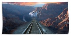 Grand Canyon Collage Beach Towel