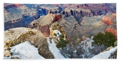 Beach Towel featuring the photograph Grand Canyon In February by Mae Wertz