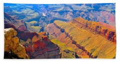 Grand Canyon In Vivid Color Beach Towel by Jim Hogg