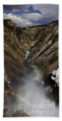 Beach Towel featuring the photograph Grand Canyon Of The Yellowstone - 25x63 by J L Woody Wooden