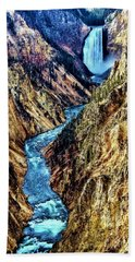 Beach Sheet featuring the photograph Grand Canyon Of The Yellowstone by Benjamin Yeager