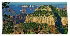 Beach Towel featuring the photograph Grand Canyon Peak Angel Point by Bob and Nadine Johnston