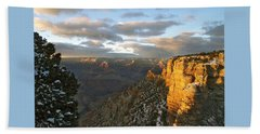 Grand Canyon. Winter Sunset Beach Towel