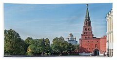 Grand Kremlin Palace With Cathedral Beach Towel