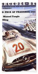 Grand Prix F1 Reims France 1954  Beach Towel