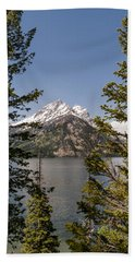 Grand Teton On Jenny Lake - Grand Teton National Park Wyoming Beach Towel