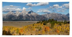 Grand Tetons In Autumn Beach Sheet