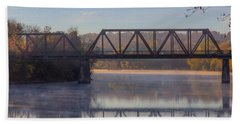 Beach Towel featuring the photograph Grand Trunk Railroad Bridge by Donna Lee