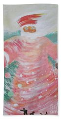 Grandfather Frost Beach Towel