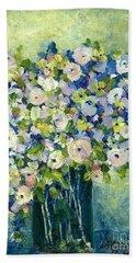 Grandma's Flowers Beach Towel