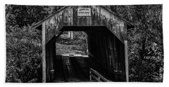 Grange City Covered Bridge - Bw Beach Sheet